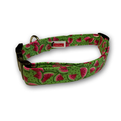 Elmo's Closet Watermelons Dog Collar