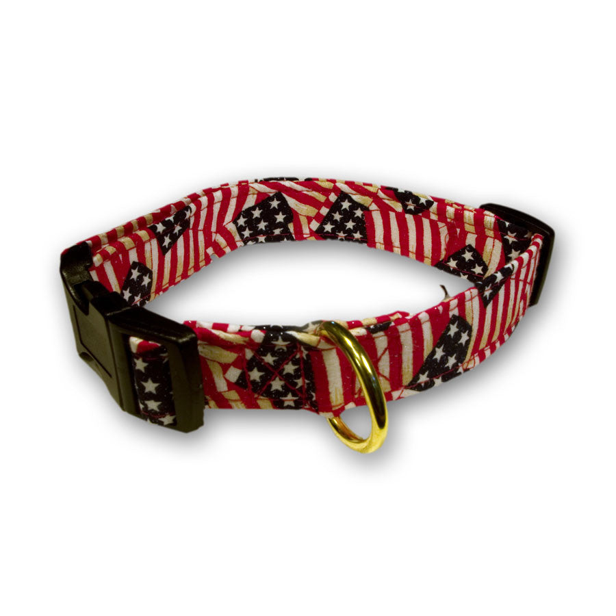 Elmou0027s Closet Waving Flags Dog Collar