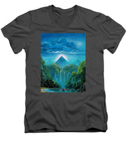 "Load image into Gallery viewer, ""The Fortunate Outcast"" - Men's V-Neck T-Shirt"
