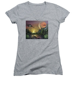 "The Art Surgeon's ""The Mating Ritual""- Women's V-Neck"