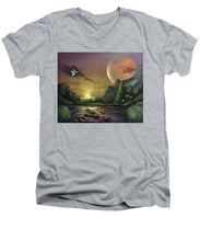 "Load image into Gallery viewer, The Art Surgeon's ""The Mating Ritual""-  Men's V-Neck T-Shirt"