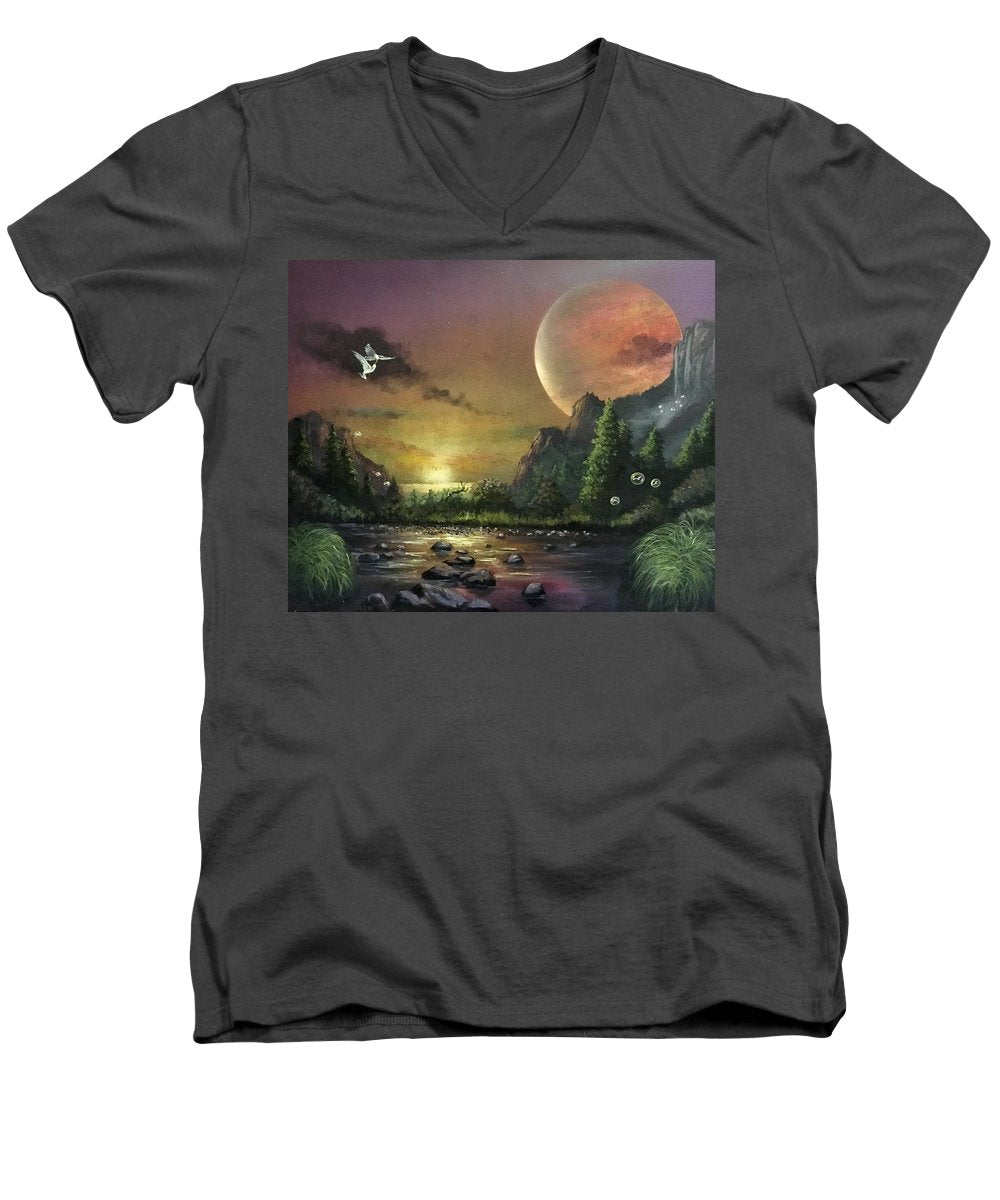 "The Art Surgeon's ""The Mating Ritual""-  Men's V-Neck T-Shirt"