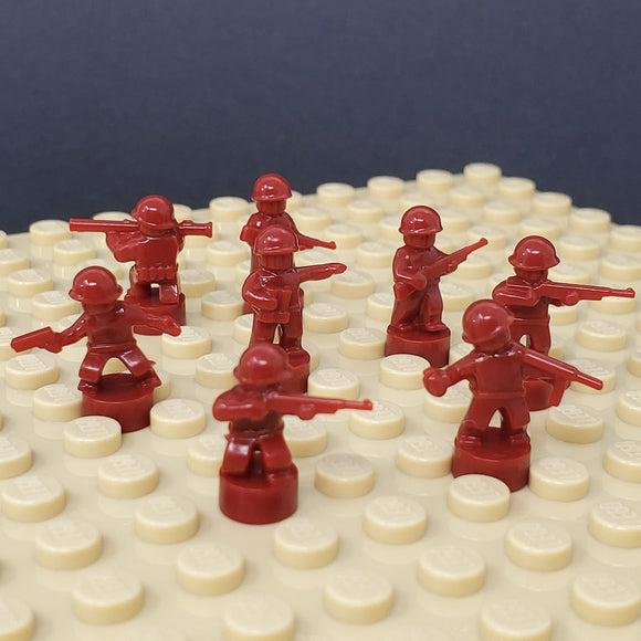 Nano Soldier Figures - Dark Red