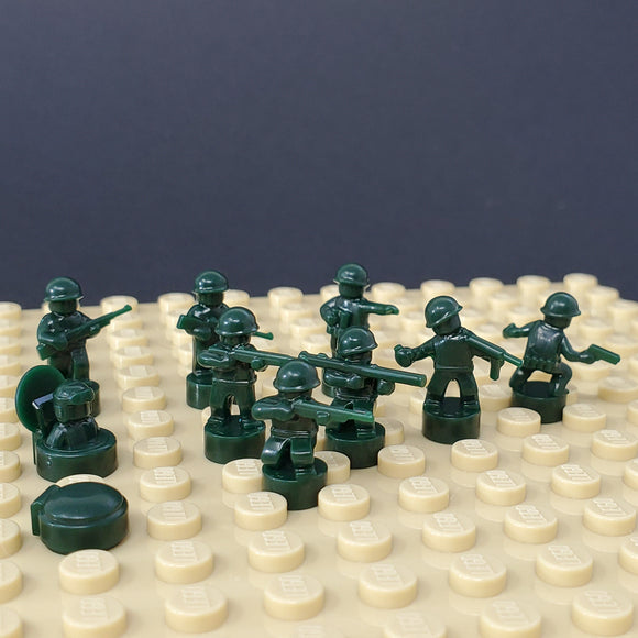 Nano Soldier Figures - Dark Green