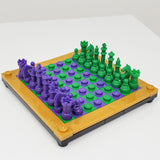 Complete Chess Set with Standard Board and Brick Separator
