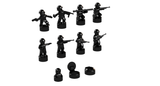 Nano Soldier Figures - Black