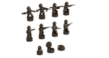 Nano Soldier Figures - Reddish Brown