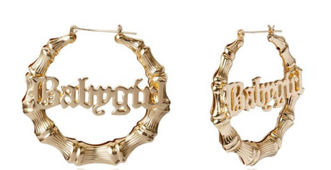 """Baby Girl"" Bamboo Earrings"