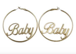"Gold ""Baby"" Hoops"