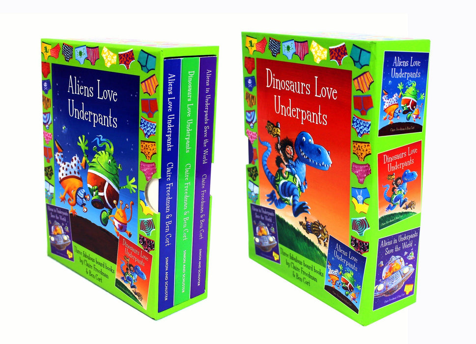 Aliens & Dinosaur Love Underpants 3 Books Box Set - Books2Door
