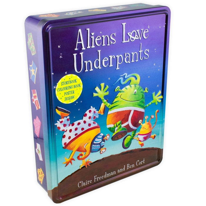 Aliens Love Underpants Anniversary Tin - Ages 0-5 - Paperback - Claire Freedman and Ben Cort - Books2Door