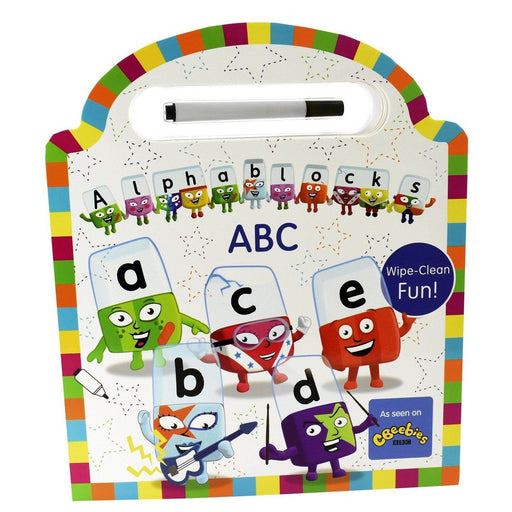 0-5 - Alphablocks Official Wipe Clean ABC - Pen Included Board Book - Age 0-5