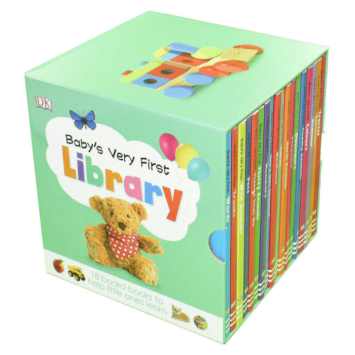 Baby's Very First Library 18 Board Books - Ages 0-5 - Board Books 0-5 Dorling Kindersley