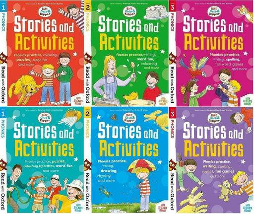 Biff Chip Kipper Phonics Stories & Activities Pack 6 Books - Ages 0-5- Paperback By Roderick Hunt - Books2Door