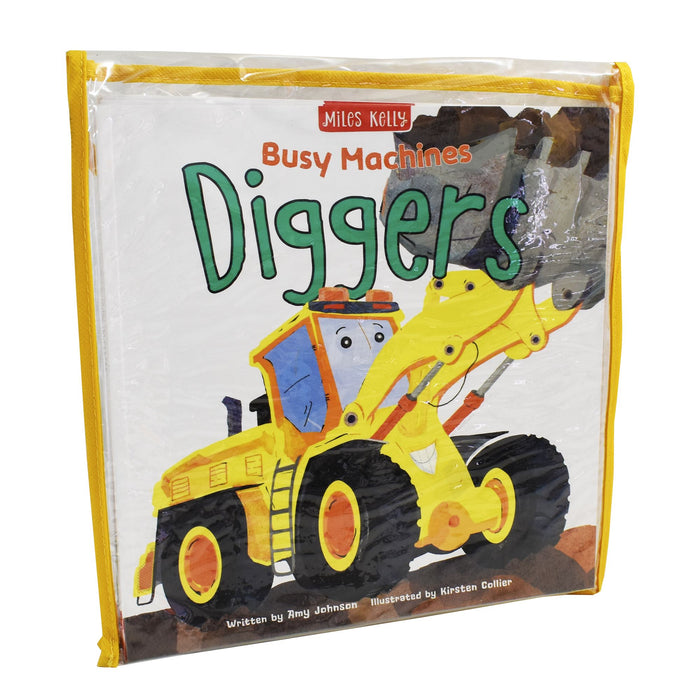 0-5 - Busy Machines 4 Books Bag Collection - Ages 0-5 - Paperback - Miles Kelly