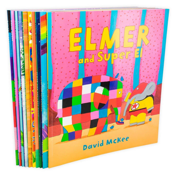 Elmer 10 Book Collection in a Bag - Ages 0-5 - Paperback - David McKee - Books2Door