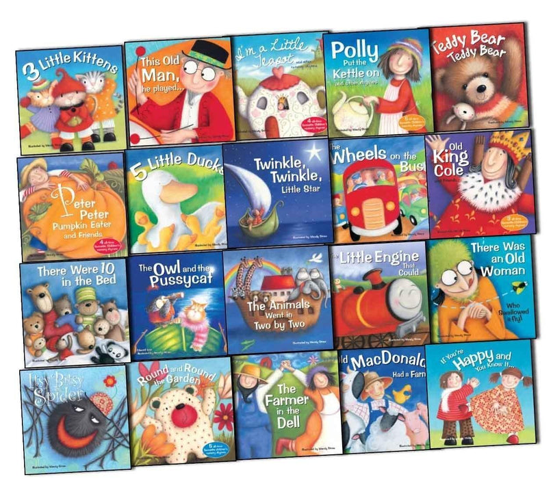 Favourite Nursery Rhymes 20 Books Box Set - Ages 0-5 - Paperback - Wendy Straw - Books2Door
