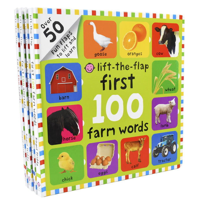 0-5 - Firs 100 Lift The Flap 4 Children Board Books Collection Set For Little Learners- Ages 0-5 - Board Books