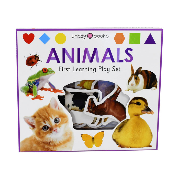 0-5 - First Learning Animals Play Set - Ages 0-5 - Board Book - Priddy Books