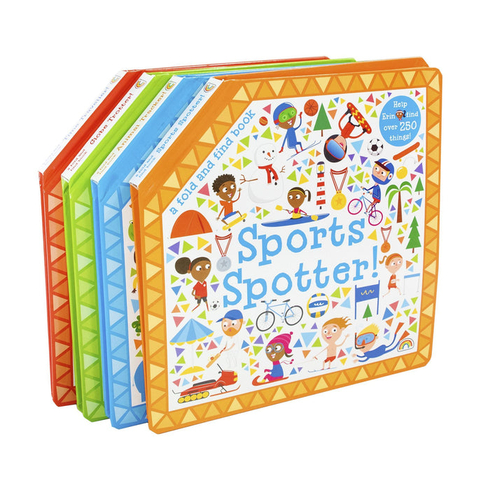 0-5 - Fold And Find Sports 4 Books - Ages 0-5 - Board Books By Fitzhammond