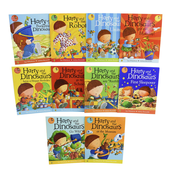 Harry and The Bucketful Of Dinosaurs Collection 10 Book Set - Ages 0-5 - Paperback - Ian Whybrow 0-5 Penguin