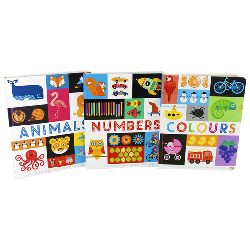 0-5 - Lift The Flap Early Learning Guide Colours, Animals And Numbers - Ages 0-5 - 3 Board Books By Philip Dauncey