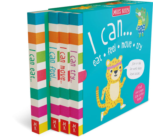 0-5 - Miles Kelly I Can Eat, Feel, Move And Try 4 Books Box Set - Hardback - Age 0-3