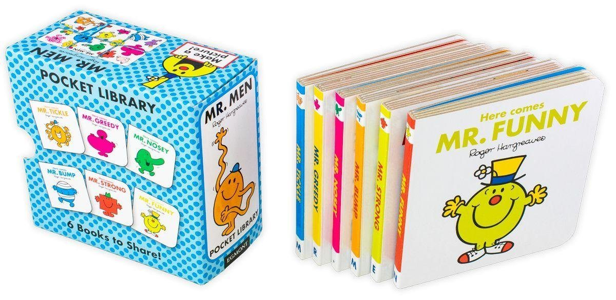 Mr Men 6 Books Pocket Library - Ages 0-5 - Board Books - Roger Hargreaves - Books2Door