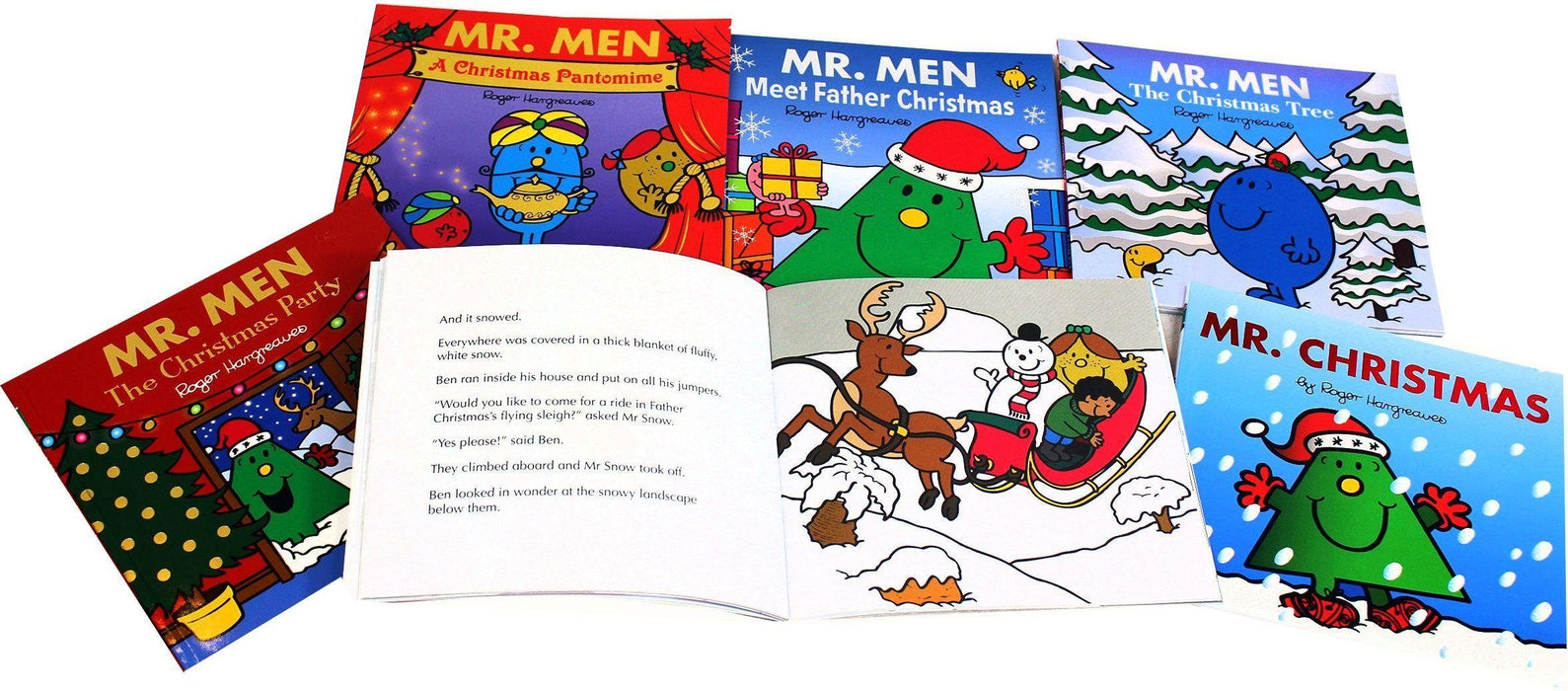 Mr Men 6 Christmas Books - Children's Literature - Paperback - Roger Hargreaves - Books2Door