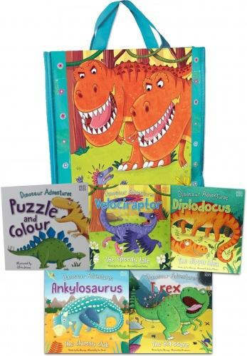 My Dinosaur Adventures 5 Book Collection in a Bag - Ages 0-5 - Paperback - Fran Bromage - Books2Door