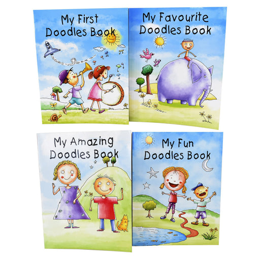 My Doodles 4 Books Collection Set Structured Activities - Ages 0-5 - Paperback 0-5 B Jain