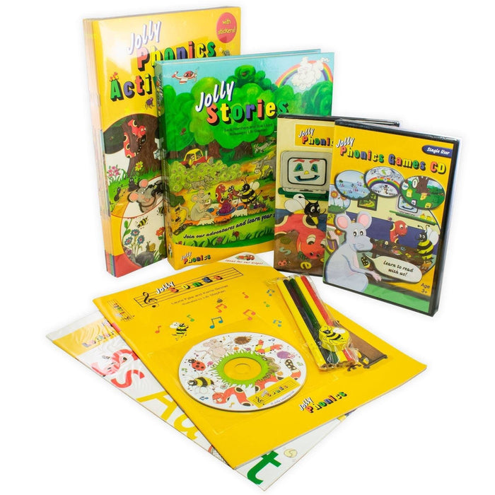 My Jolly Phonics Home Kit Activity Books, DVD, CD Set - Ages 0-5 - CD and Books - Sue Lloyd - Books2Door