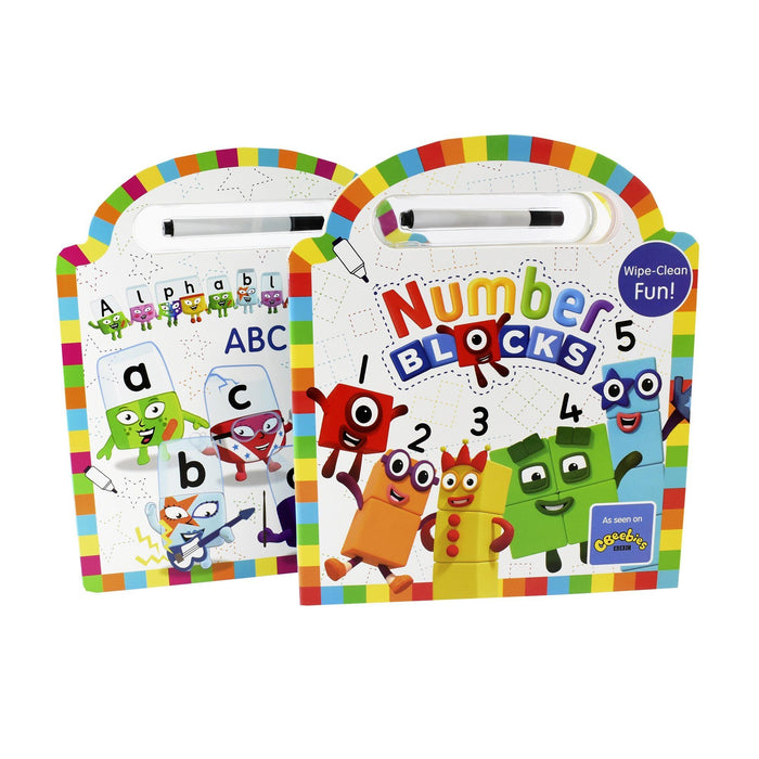 0-5 - Numberblocks And Alphablock Wipe Clean With Annual 2020 3 Books - Hardcover -  Age 0-5