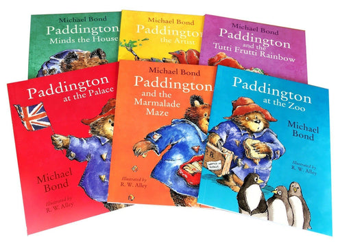 Paddington Bear Suitcase 6 Picture Books - Ages 0-5 - Paperback - Michael Bond and R. W. Alley - Books2Door