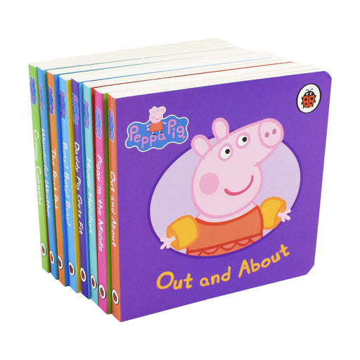 0-5 - Peppa Pig Childrens Picture Flat 8 Board Books Collection