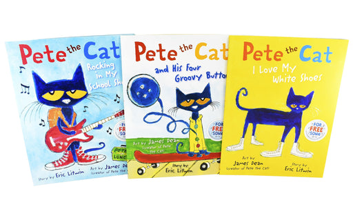 Pete The Cat 3 Books Children - Ages 0-5 - Paperback By James Dean & Eric Litwin - Books2Door