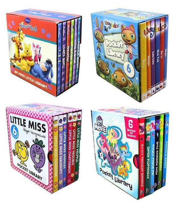 Pocket Library 24 Board Books Collection for Girls - Ages 0-5 - Board Books - Books2Door