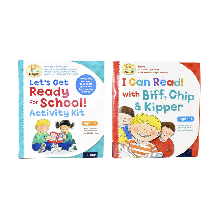 0-5 - Read With Biff Chip And Kipper Activity Kit 2 Books - Ages 0-5 - Paperback - Roderick Hunt