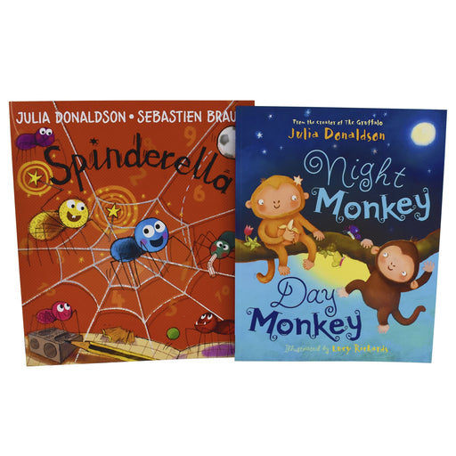 0-5 - Spinderella And Night Monkey Day Monkey 2 Book Set Ages -0-5 - By Julia Donaldson