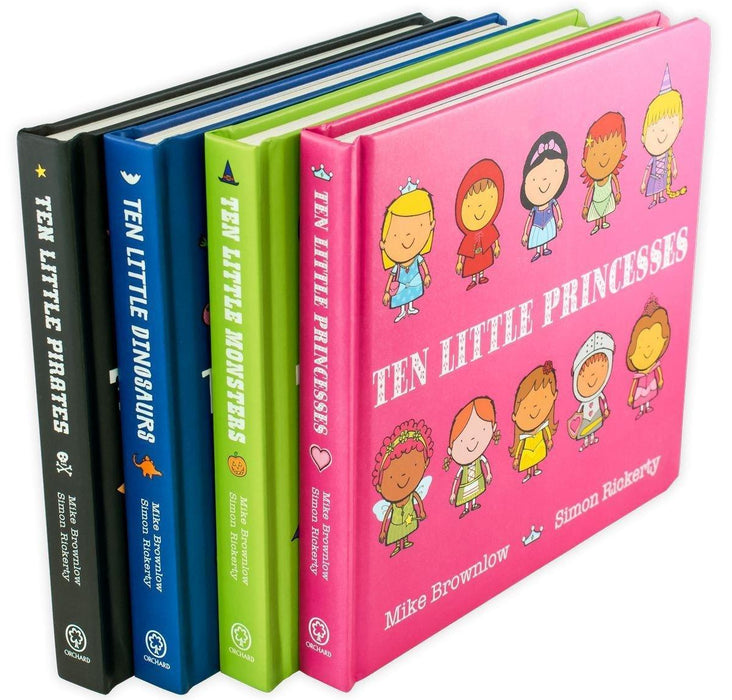 Ten Little' 4 Board Book Collection - Ages 0-5 - Board Books - Mike Brownlow - Books2Door