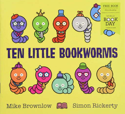 0-5 - Ten Little Bookworms 2019 WBD - Ages 0-5 - Paperback - Michael Brownlow