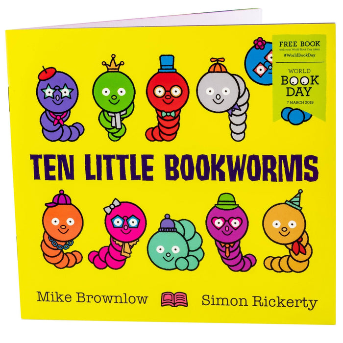 Ten Little Bookworms 2019 WBD - Ages 0-5 - Paperback - Michael Brownlow - Books2Door