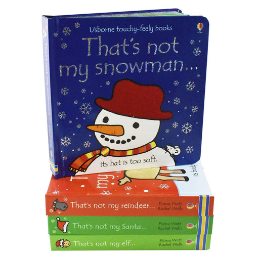 Thats Is Not My Touchy Feely 4 Books - Toy Books - Board Books - Fiona Watt & Rachel Wells 0-5 Usborne
