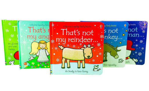 Thats Not My Christmas Set 5 Books - Ages 0-5 - Board Books 0-5 Usborne