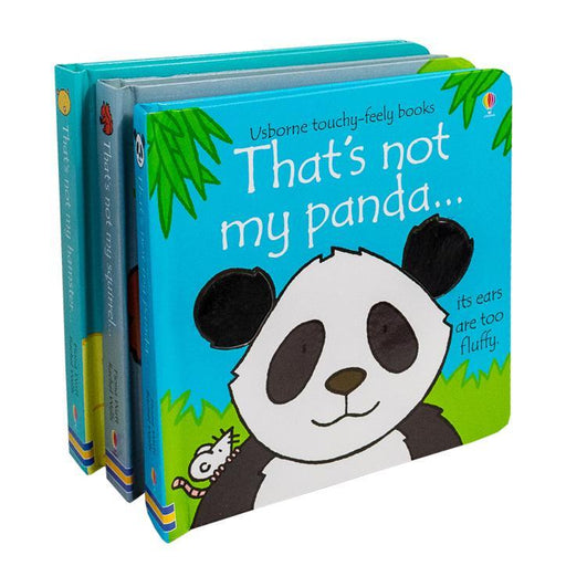 Thats Not My Touchy-Feely 3 Board Books Set Squirrel, Hamster and Panda - Ages 0-5 - Board Books - Usborne 0-5 Usborne