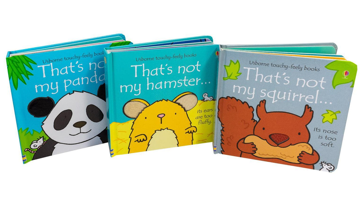 Thats Not My Touchy-Feely 3 Board Books Set Squirrel, Hamster and Panda - Ages 0-5 - Board Books - Usborne - Books2Door