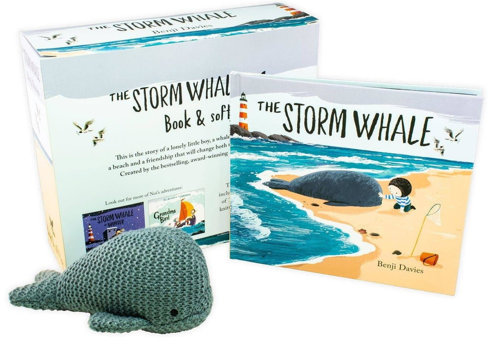 The Storm Whale Book & Soft Toy - Ages 0-5 - Hardback - Benji Davies - Books2Door