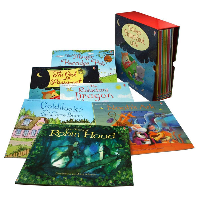 0-5 - The Usborne Big Picture Book Collection 20 Children Books Box Gift Set (Bedtime Stories)- Paperback -Age 0-5
