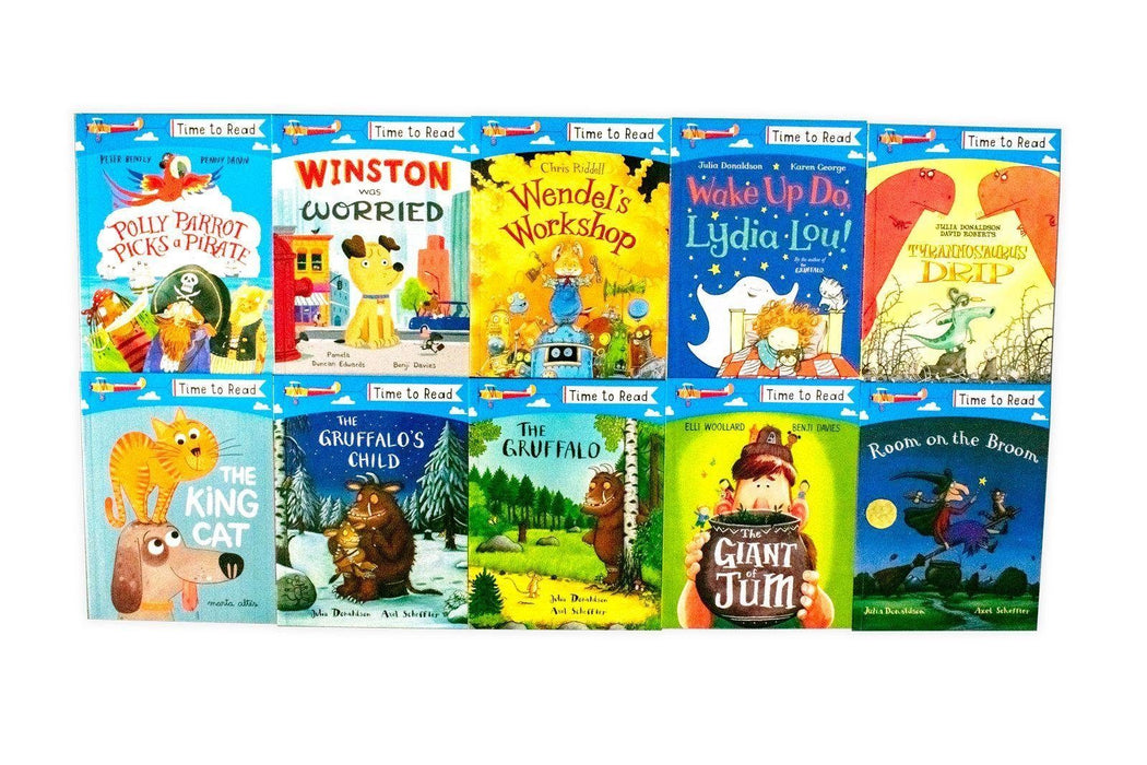 Time To Read 20 Book Collection - Ages 0-5 - Paperback - Julia Donaldson & Lydia Monks - Books2Door