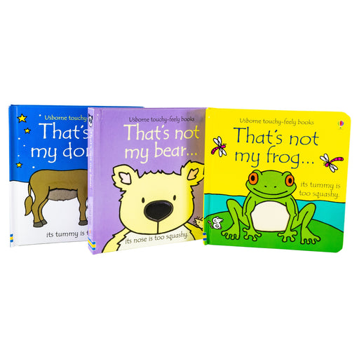 That's Not My Touchy Feely 3 Books Collection Set - Frog Bear Donkey 3 Books Fiona Watt - Ages 0-5 - Board Books - Usborne 0-5 Usborne